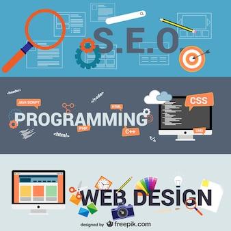 E-business und web-design-elemente