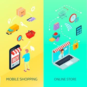 E-commerce-banner-set einkaufen