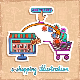E-commerce-design-konzept