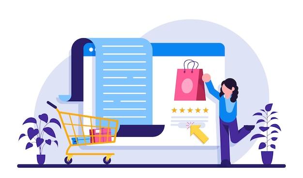 E-commerce-dienste. online einkaufen. marketing und digitales marketing.