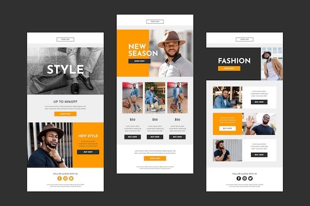 E-commerce-e-mail-vorlagen mit foto