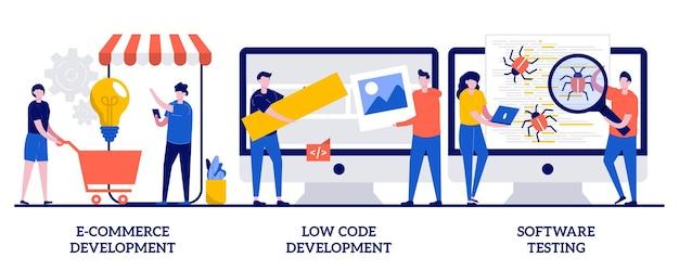 E-commerce-entwicklung, low-code-entwicklung, it-softwaretests. satz anwendungssoftware