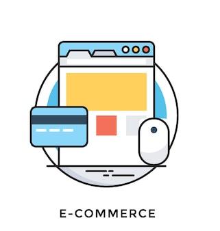 E-commerce flache vektor icon