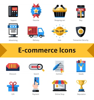 E-commerce-icons set