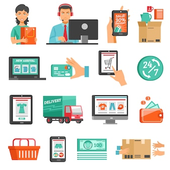 E-commerce-icons set