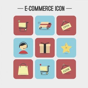 E-commerce-ikonen-sammlung