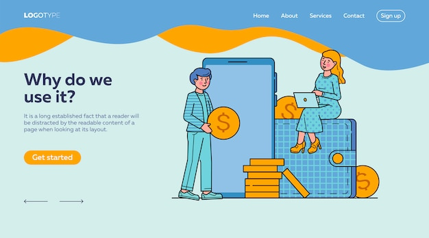 E-commerce-markt einkaufen online-landingpage-vorlage