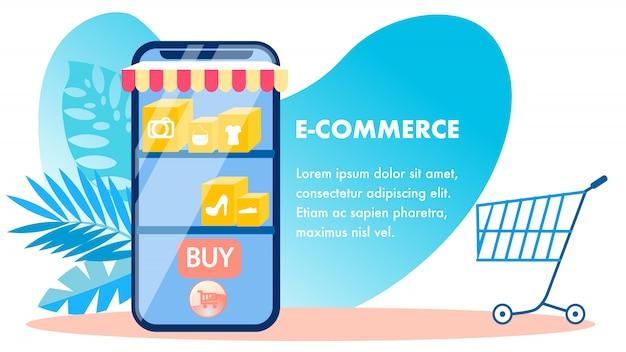 E-commerce, online-shopping-banner-vorlage