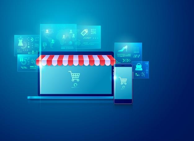 E-commerce und online-shopping