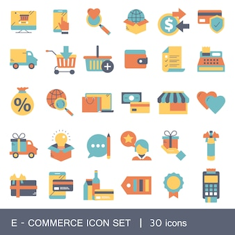 E-commerce und shopping-icon-sammlung