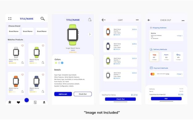 E-commerce watch checkout app-ui-design