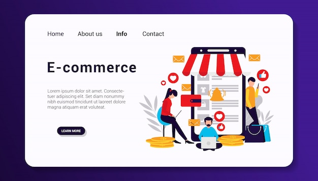 E-commerce-zielseitenvorlage