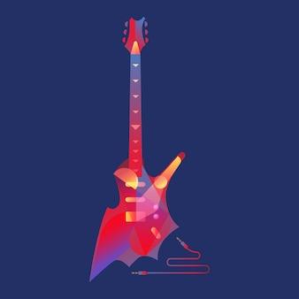 E-gitarre mit modernem art deco und minimalistischer art