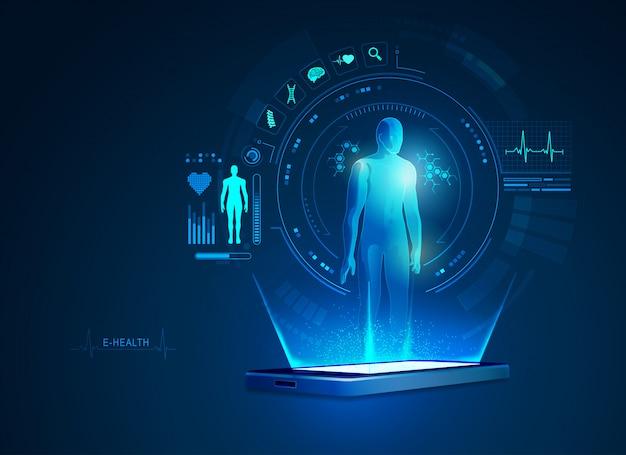 E-health- oder telemedizin-anwendung auf dem handy