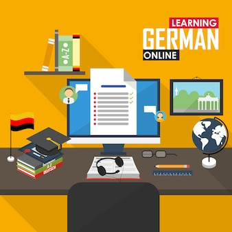E-learning deutsche sprache.