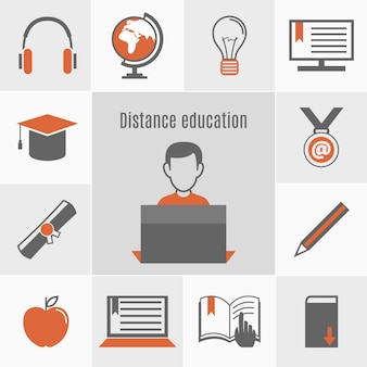 E-learning-icon-set