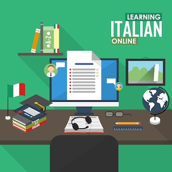 E-learning in italienischer sprache.
