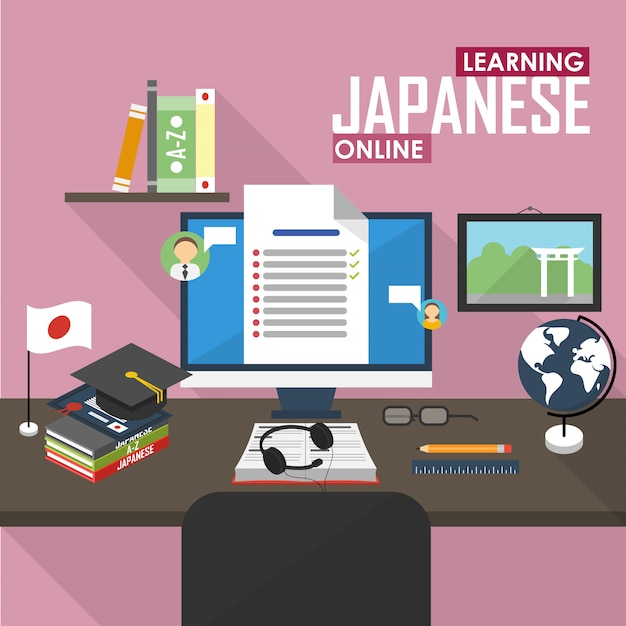 E-learning in japanischer sprache.