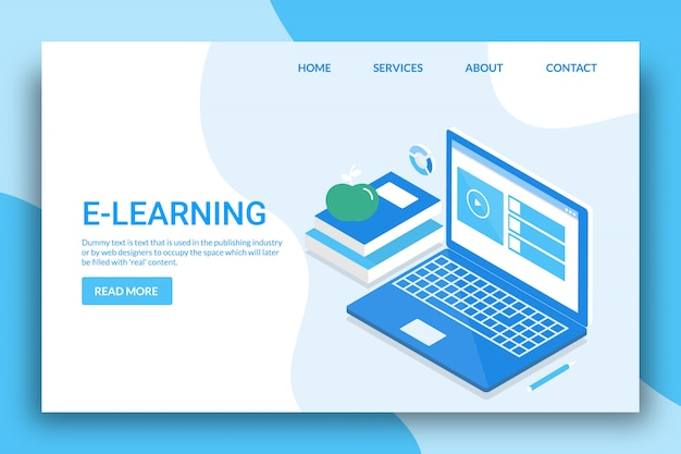 E-learning-konzept
