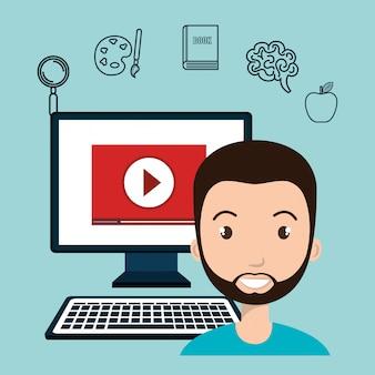 E-learning-symbol für schüler