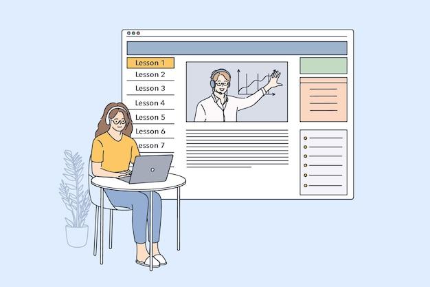 E-learning- und online-unterrichtskonzept