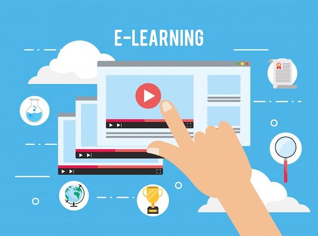 E-learning-website-video mit studienzertifikat