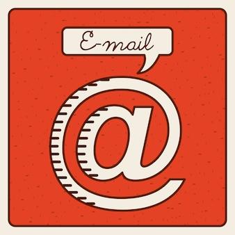 E-mail-ikonendesign, grafik der vektorillustration eps10