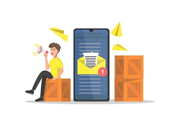E-mail-kampagne für marketingstrategie