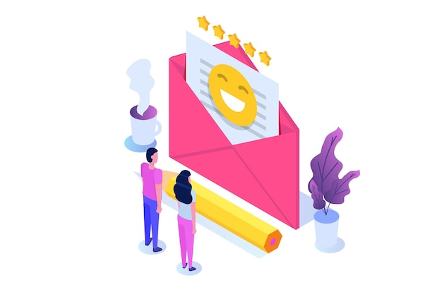 E-mail-marketing, abonnement-konzept