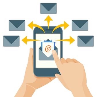 E-mail-marketing-akt des versendens von werbebotschaften