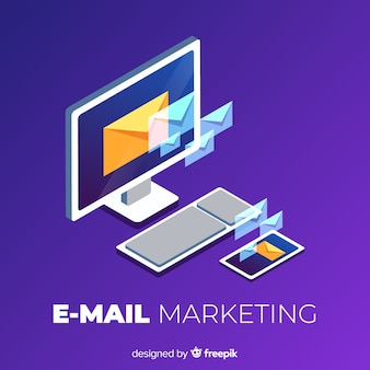 E-mail-marketing-hintergrund