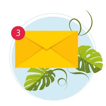E-mail marketing. postfach und umschläge, umgeben von benachrichtigungen durch symbole. e-mail-konzept, dargestellt durch umschlag- und postfachsymbol. e-mail-bombardierung. vektor-illustration