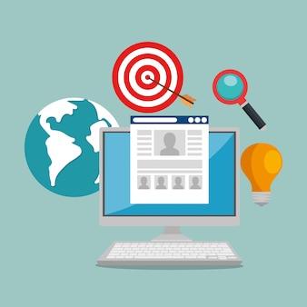 E-mail-marketing stellen icons