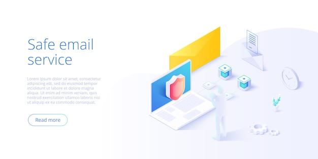 E-mail-nachrichtenkonzept als teil des geschäftsmarketings