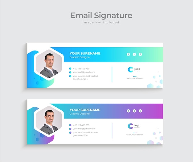 E-mail-signatur-vorlagen-design oder modernes persönliches e-mail-signatur-design