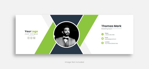 E-mail-signatur-vorlagen-design premium-vektor