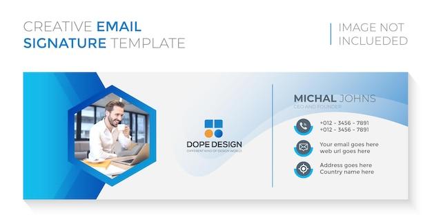 E-mail-signaturvorlage oder e-mail-fußzeile und persönliches social-media-cover-design