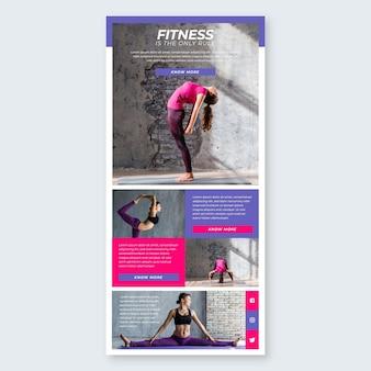 E-mail-vorlage für fitnesskommunikation