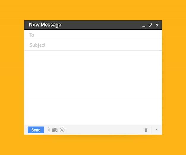 E-mail-vorlage. leeres e-mail-browserfenster.
