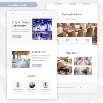 E-mail-vorlagendesign für veranstaltungen und konferenzen
