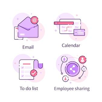 E-mailto-do-listenkalender und mitarbeiterfreigabe