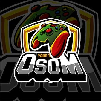 E sport gaming logo abzeichen