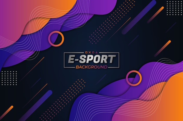 E-sport hintergrund lila orange fluid style
