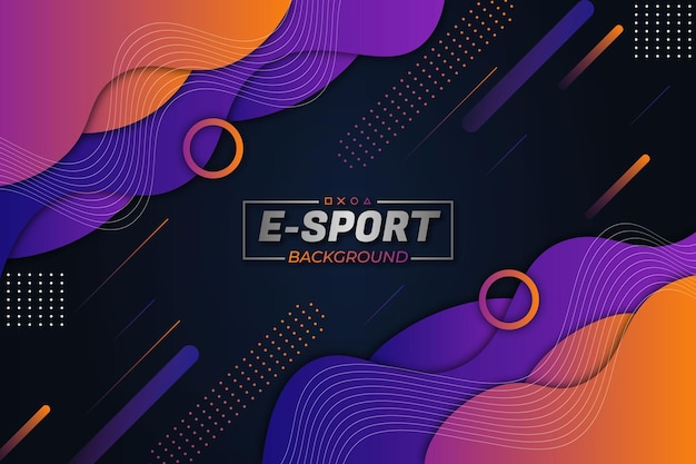 E-sport hintergrund lila orange fluid style