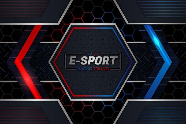 E sport hintergrund roter und blauer stil