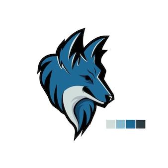 E-sport logo wolfsblau