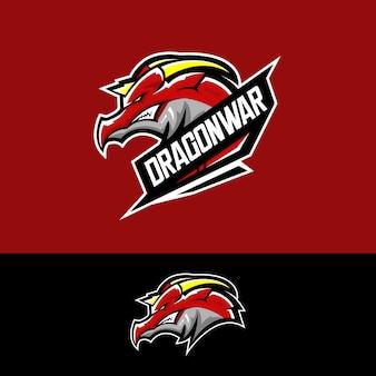 E-sport team logo mit drachen