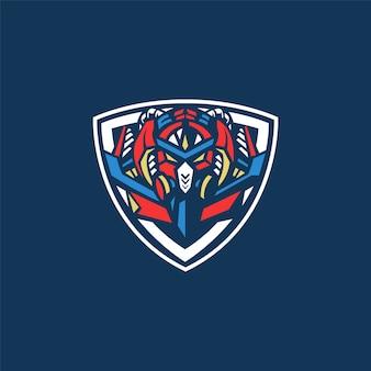 E-sport team logo mit roboter