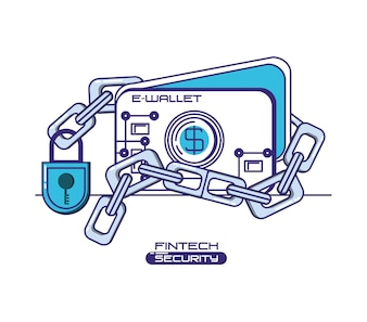E-Wallet mit Sicherheit für Finanztechnologie