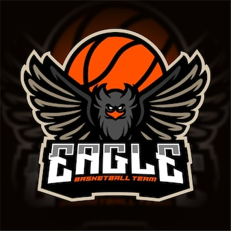 Eagle basketball team sport logo